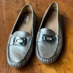 Coach Bronze Leather Driving Loafer NEW